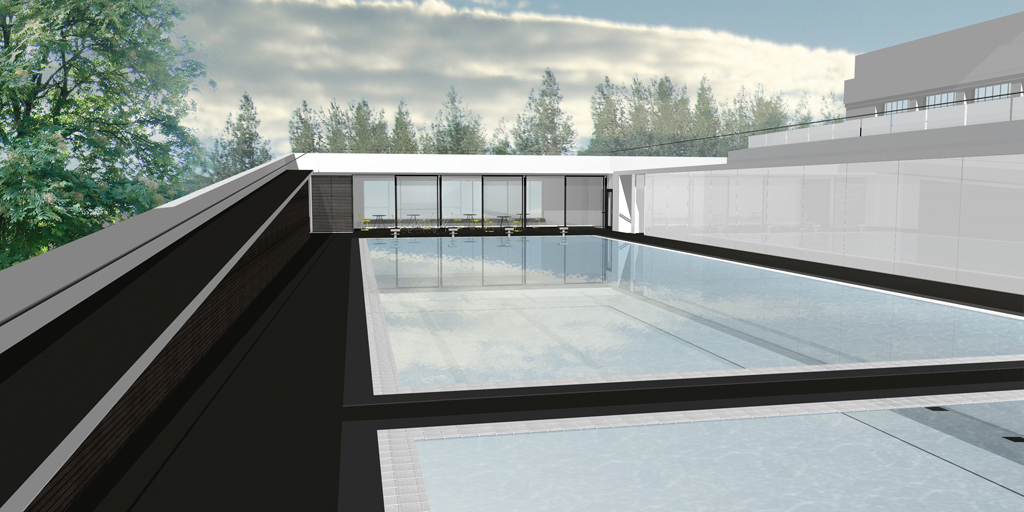 S ramp pool area